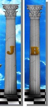 """Fig. 46. Detalhe das Colunas """"B"""" e """"J"""". Fonte: Estandarte da Loja Pendulus"""