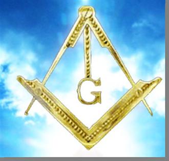 Fig. 47 - Detalhe do Compasso, do Esquadro e da letra G. Fonte: Estandarte da Loja Pendulus
