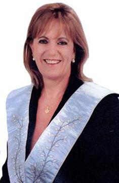 Fig. 48 - Ir.: Sonia Regina Machado, Ven.: Mestre na gestão 2010 – 2012. Fonte: GLUSC