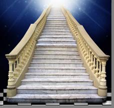 Fig. 54 - Detalhe da Escada. Fonte: Estandarte da Loja Luz de Gaia