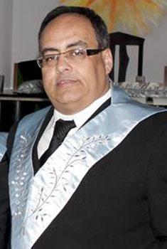 Fig. 57 - Ir:. José Everton da Silva Ven. Mestre da Loja Universia no periodo de 2010 -2012. Fonte GLUSC