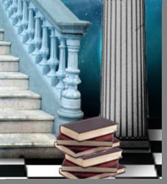Fig. 63 - Detalhe dos livros. Fonte: Estandarte da Loja Universia