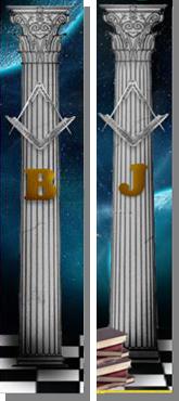 Fig. 64 - Detalhes das Colunas. Fonte: Estandarte da Loja Universia