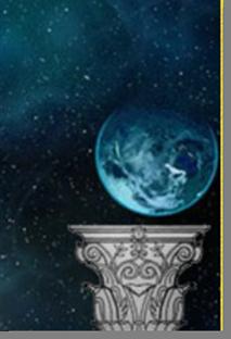 Fig. 65 - Detalhe do globo celeste sobre a coluna. Fonte: Estandarte da Loja Universia