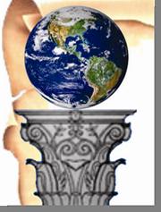 Fig. 71 - Detalhe do planeta Terra. Fonte. Estandarte da Loja Magister