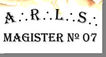 Fig. 73 - Detalhe do nome da loja. Fonte: Estandarte da Loja Magister