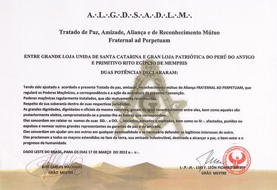 Gran Loja Patriótica do Peru do Antigoe Primitivo Rito Egípcio de Memphis