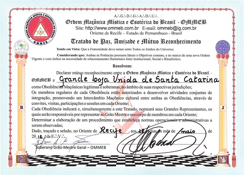 Ordem Maçônica Mística e Exotérica do Brasil (OMMEB)